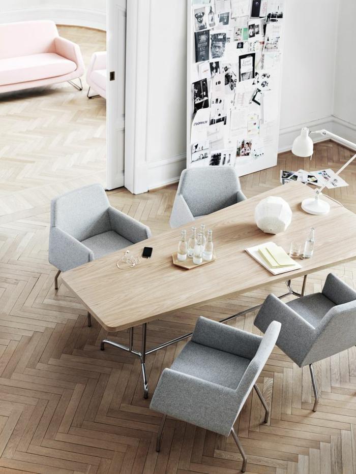 ausgefallene möbel skandinavisches design esszimmertisch mit stühlen
