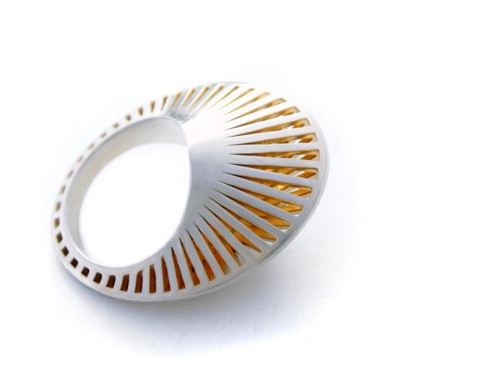 ausgefallener schmuck runder ring stahl