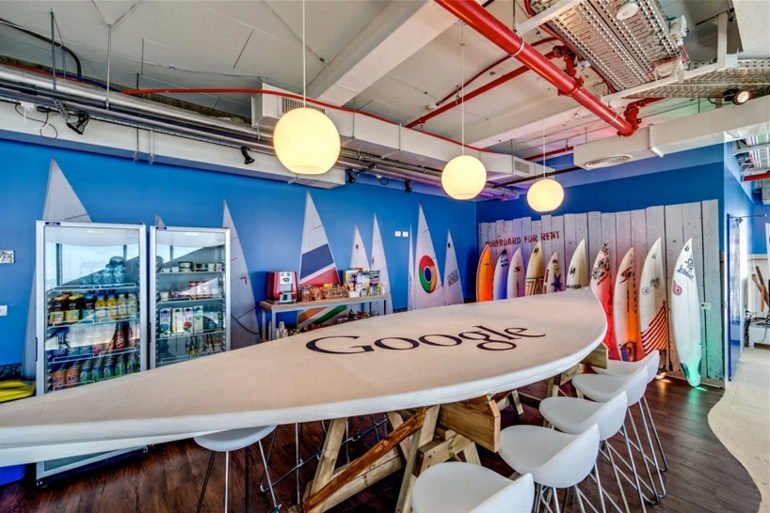 büroeinrichtung google office tel aviv stress am arbeitsplatz