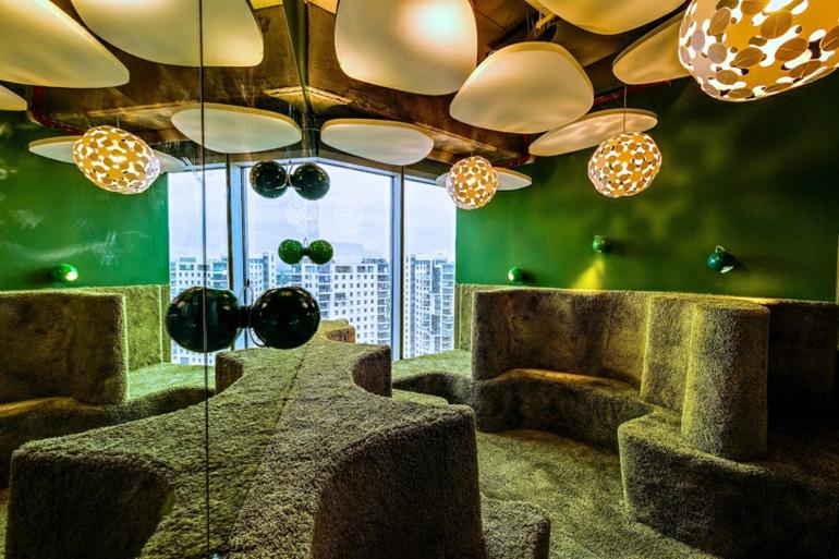 büroeinrichtung google office tel aviv treffpunkt stress am arbeitsplatz