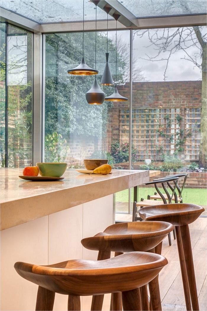 barhocker design holz küche gestalten