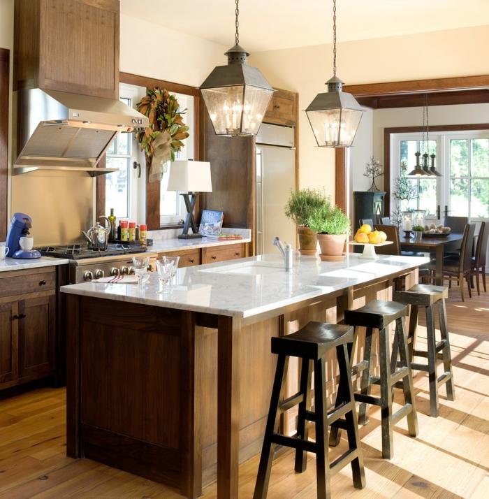 barhocker design küche einrichten holzboden