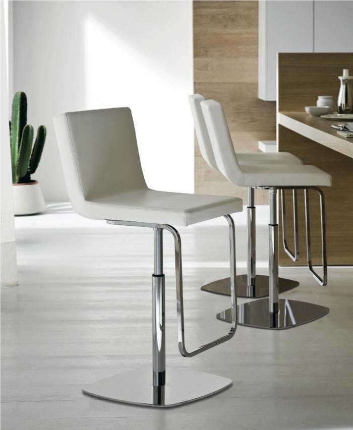 barhocker küche elegant weiß metall