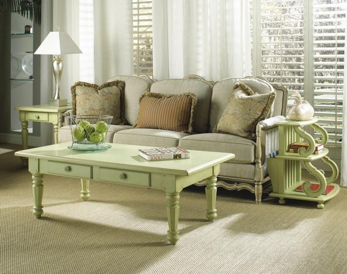 design : vintage wohnzimmer grün ~ inspirierende bilder von ...
