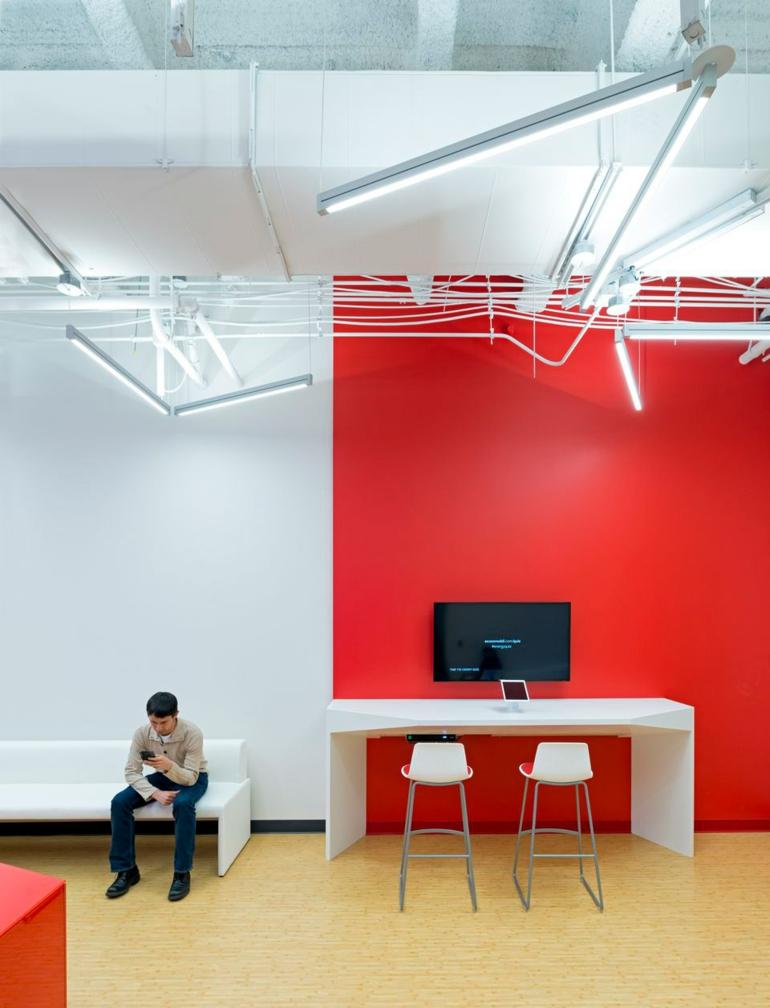 comcast büro von design blitz moderne büroeinrichtung rot weiß