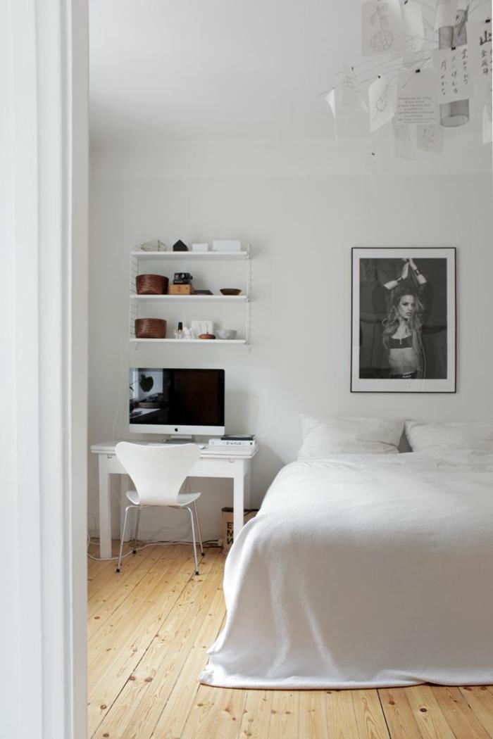 coole jugendzimmer ideen schwarz weiße fotografie