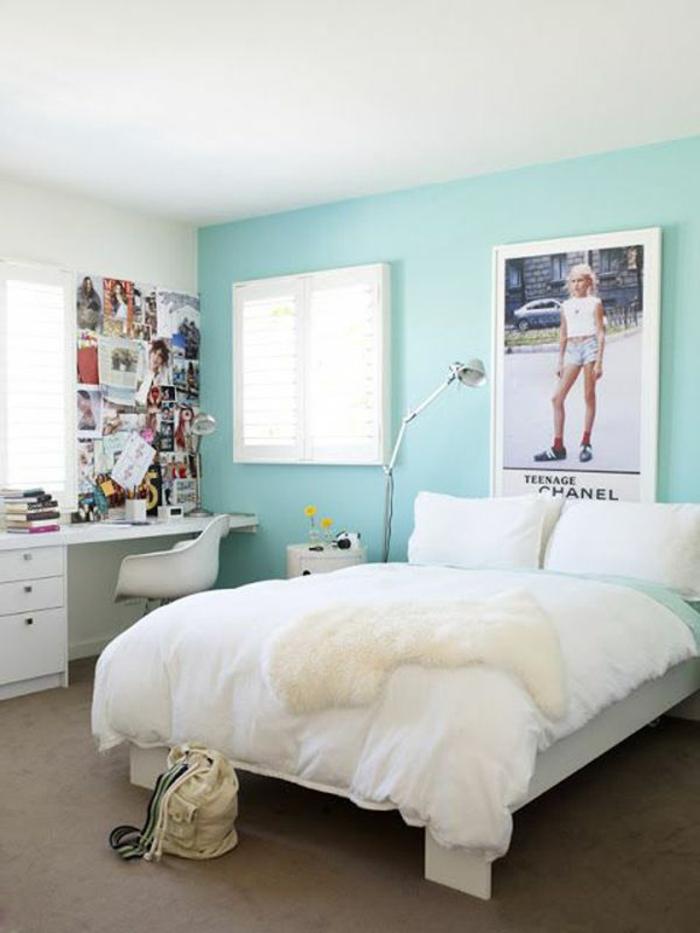 cool jugendzimmer mädchen ideen wandfarbe minzgrün