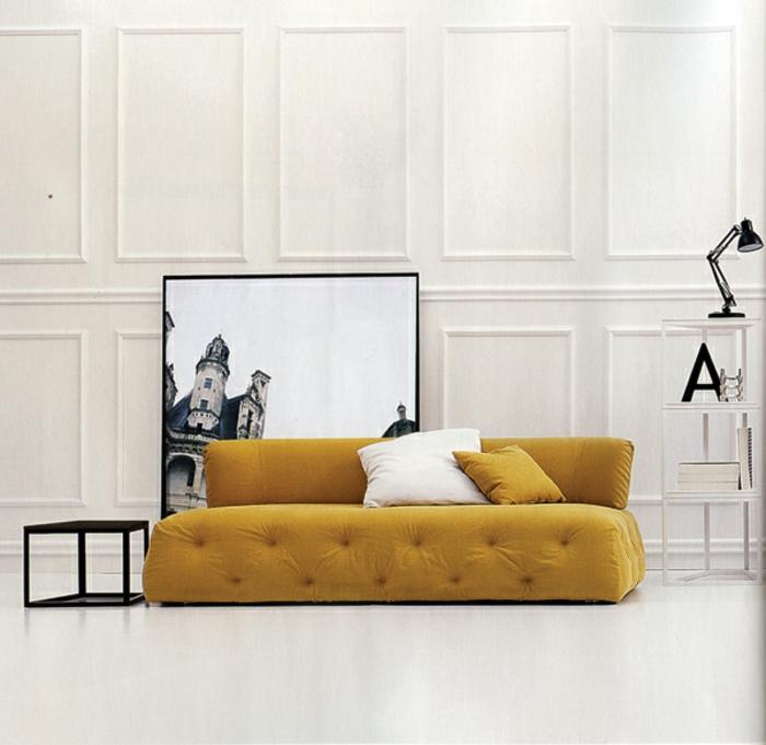 couch 2 sitzer wohnzimmer möbel design sofa gelb