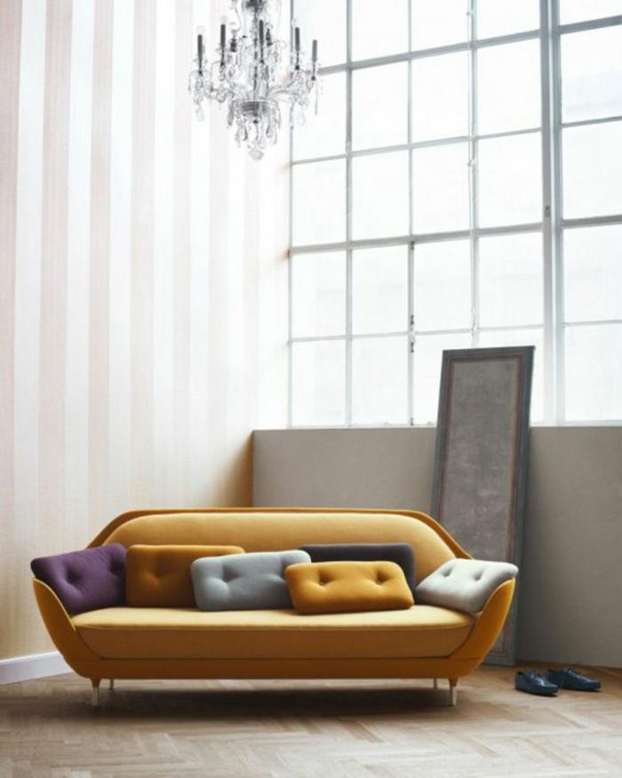 couch kaufen wohnzimmer möbel 2er sofa gelb
