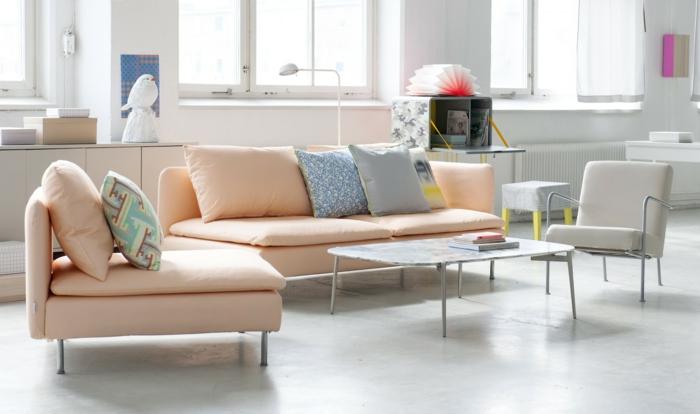 couch kaufen wohnzimmer möbel designer sofa pastellfarben