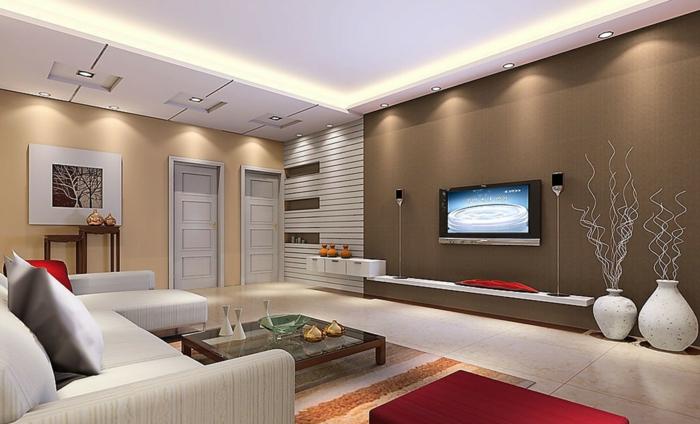 Deckenbeleuchtung Wohnzimmer U2013 Sollten Es Decken Einbau Oder Tipps
