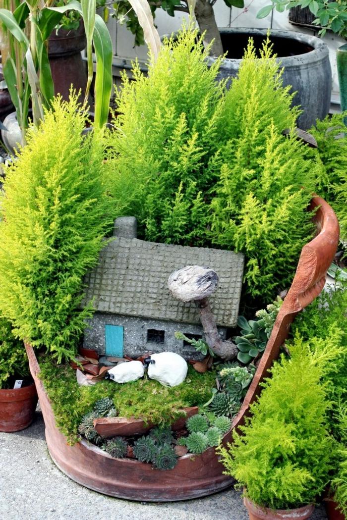 Deko bastelideen reizvollen mini garten kreieren - Garten bastelideen ...