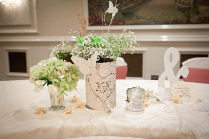 deko ideen selbermachen diy vasen tischdekoration pflanzen
