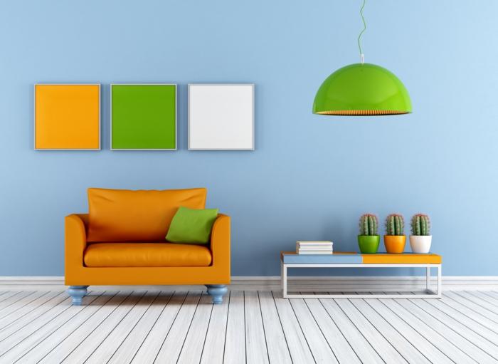 deko ideen selbermachen farbige akzente