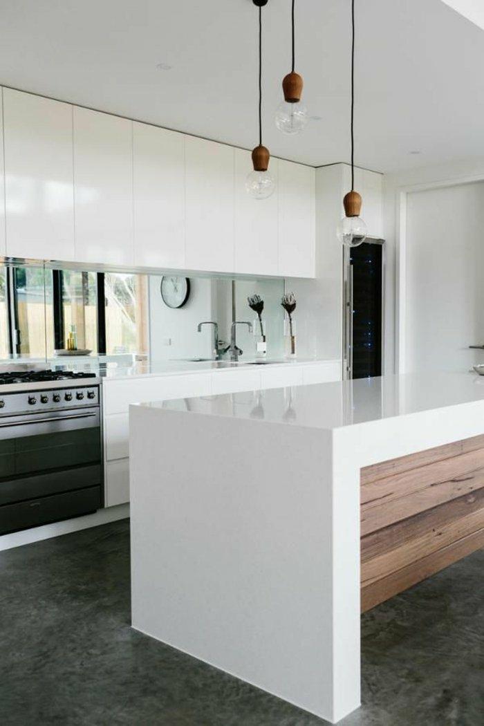 deko spiegel wandspiegel große fläche küchenrückwand
