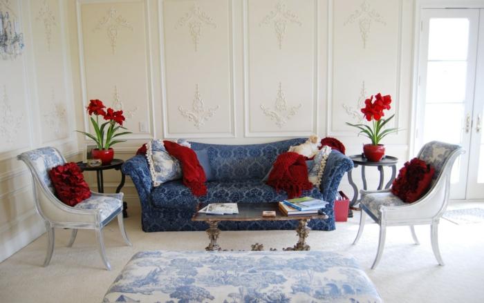 dekoideen blumen wohnzimmer zimmerpflanzen blumentopf