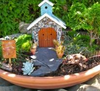 Deko Bastelideen – Reizvollen Mini Garten kreieren