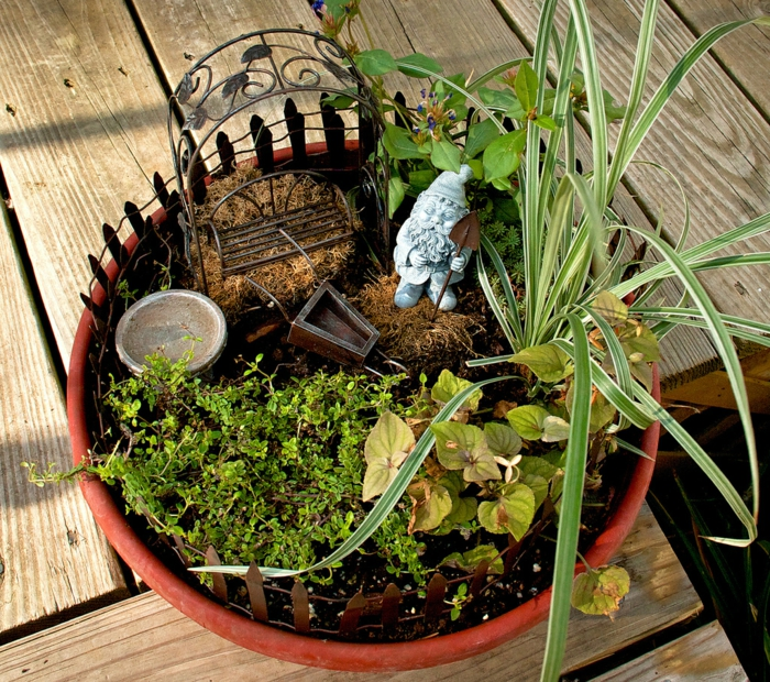 Minigarten Gestalten deko bastelideen reizvollen mini garten kreieren