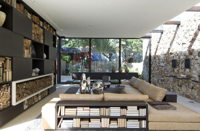 wohnzimmer holz design:Dekosteine für Wand – Verkleiden Sie die Wände Ihrer Wohnung