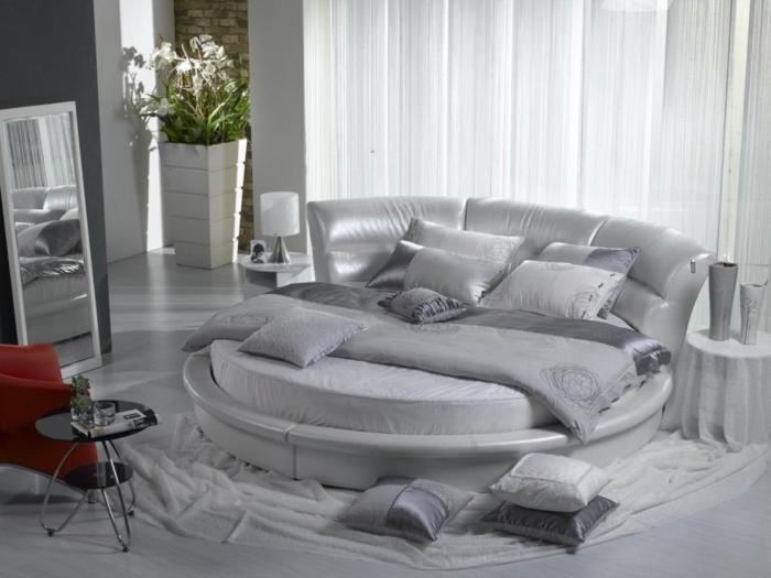 design betten unkonventionell rund weiß