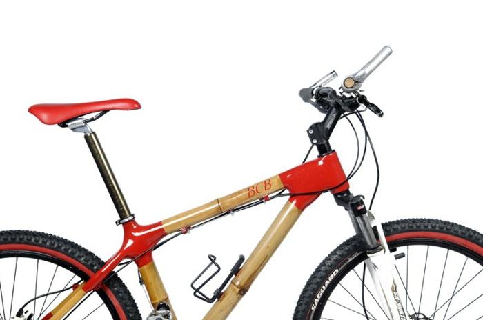 designer fahrräder mit nachhaltigem design bambus und carbon rot