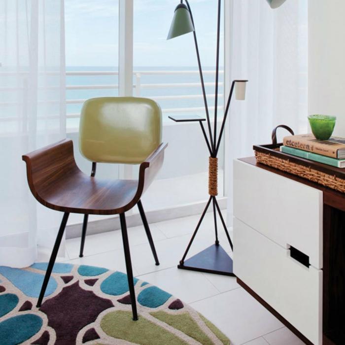 designer teppich marc janssen farbig rund