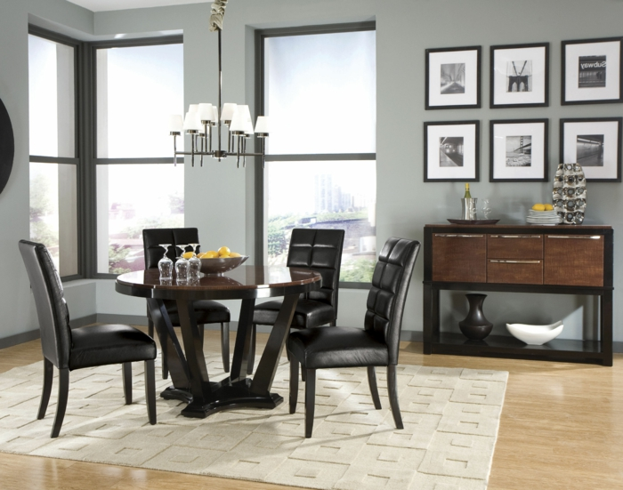 passendes esstisch design f r das speisezimmer nach form. Black Bedroom Furniture Sets. Home Design Ideas