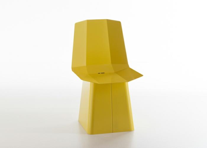 designermöbel origami stuhl linito gelb designer yu ito