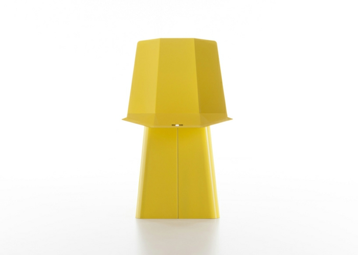 designermöbel origami stuhl linito gelb von yu ito