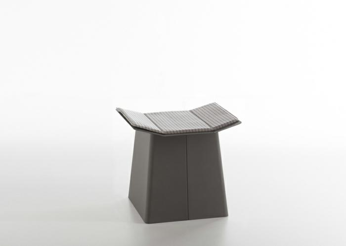 designermöbel origami stuhl linito grau hocker mit auflage