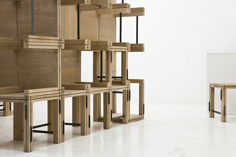 emma kleiderschrank system vom designer elie metni f r starch boutique. Black Bedroom Furniture Sets. Home Design Ideas