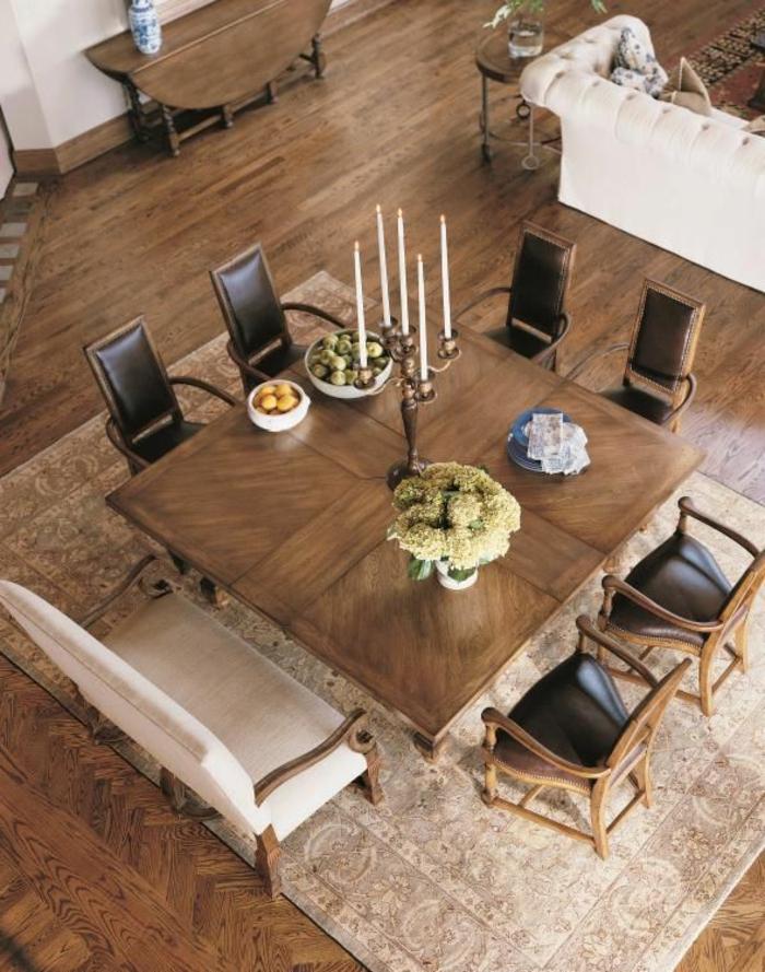 Lederst Hle Esszimmer Braun passendes esstisch design für das speisezimmer nach form aussuchen