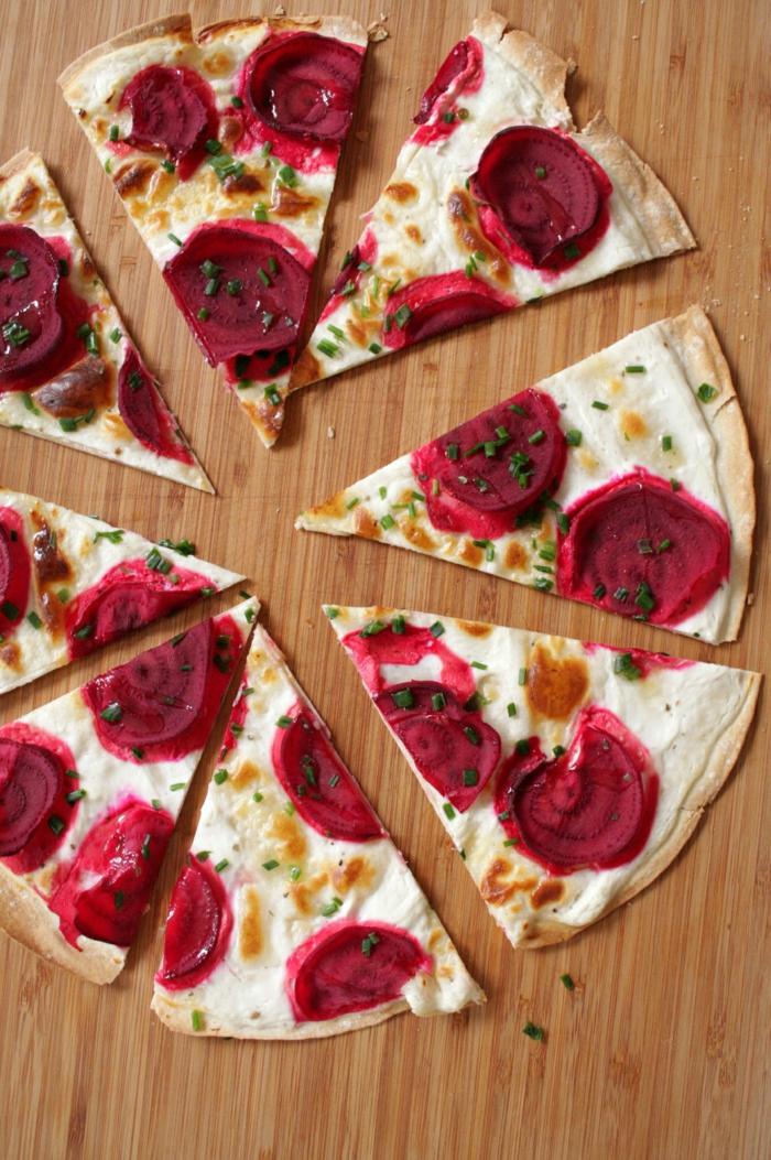 flammkuchen rezept gesund rote bete