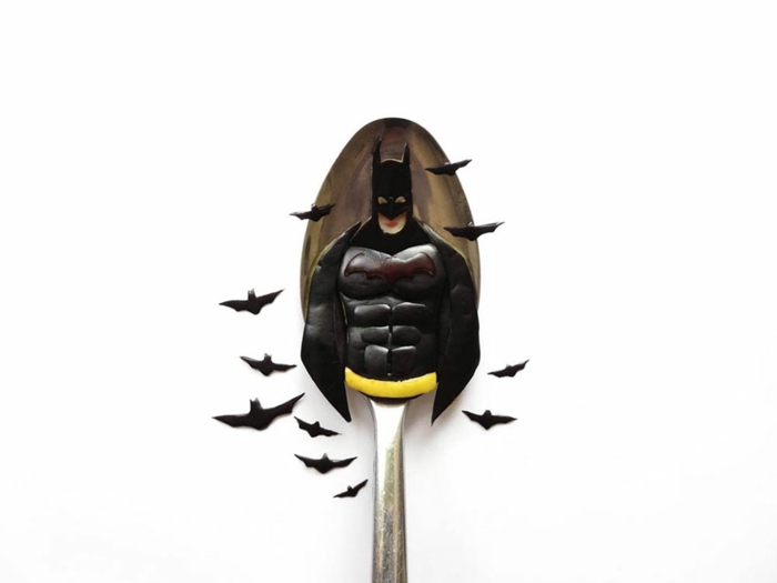 food art löffel batman