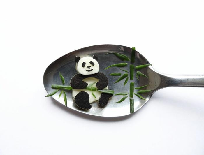 eat art löffel panda bambus