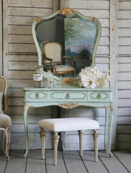 französische landhausmöbel schminktisch holz möbel landhausstil