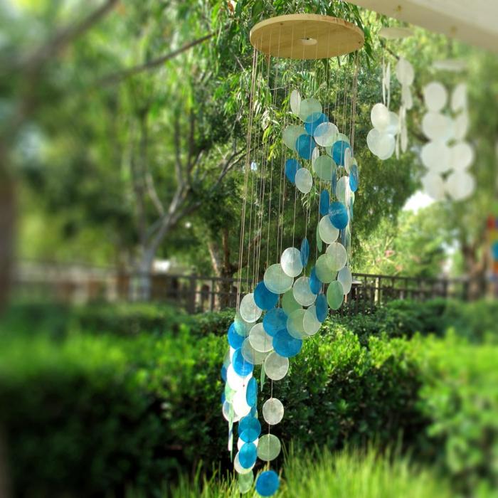 garten deko ideen stilvolles windspiel