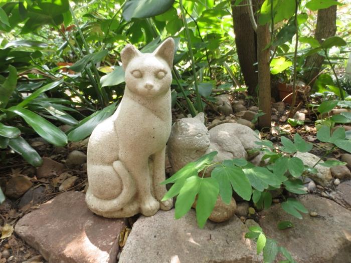 gartendeko figuren katzen schöne dekoideen