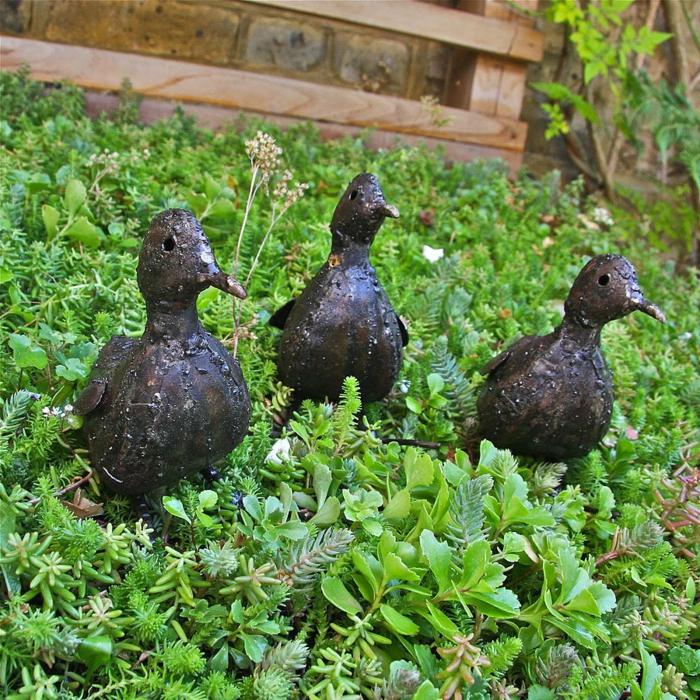 Gartendekorationen ideen die f r eine heitere stimmung im for Metallfiguren garten