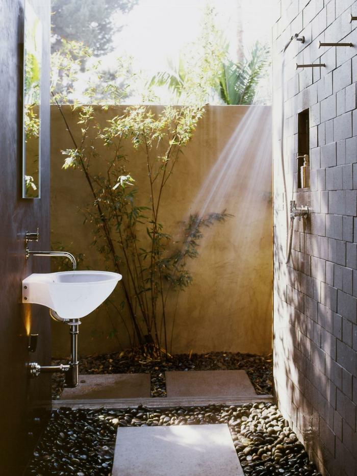 gartenideen mit dusche einen au erordentlichen. Black Bedroom Furniture Sets. Home Design Ideas
