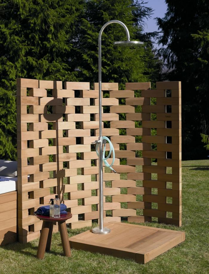 Gartenideen mit dusche einen au erordentlichen for Dusche gestalten