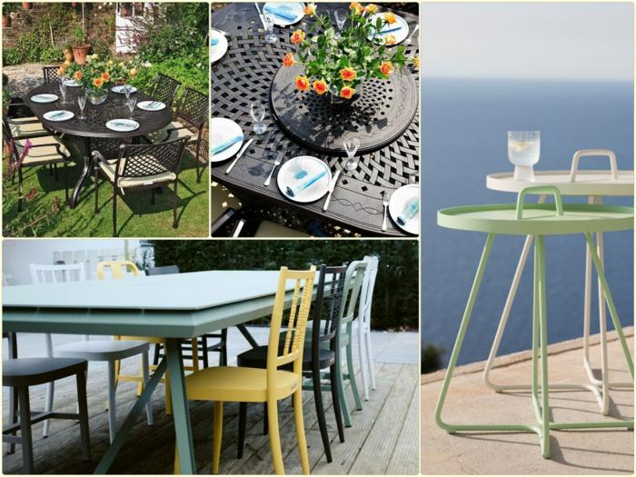 gartenmöbel set alu außenmöbel tisch mit stühlen