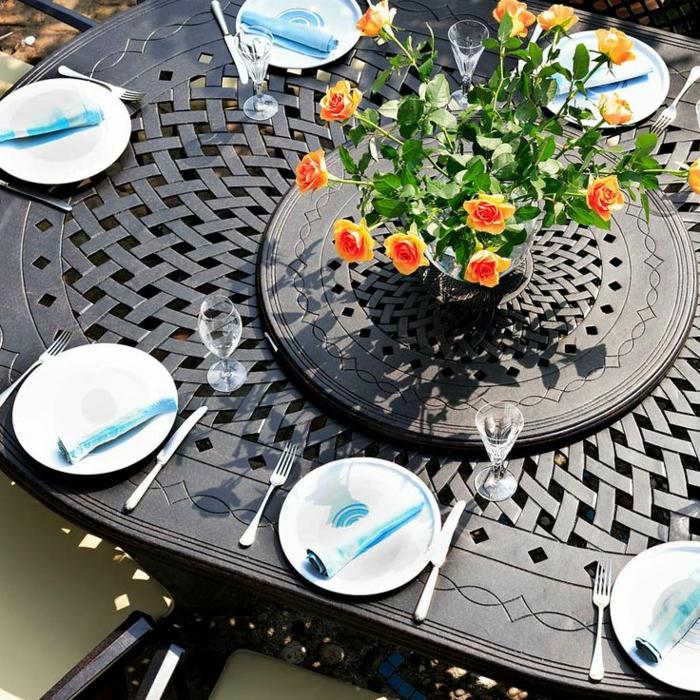 gartenmöbel set alu tisch mit stühlen landhausstil tischdeko resized