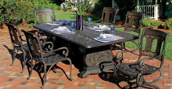 gartenmöbel set alu tisch rund mit stühlen edel resized