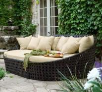 Gartensofas  ▷ 1000 Ideen für Balkonmöbel und Terrassenmöbel für Ihren ...