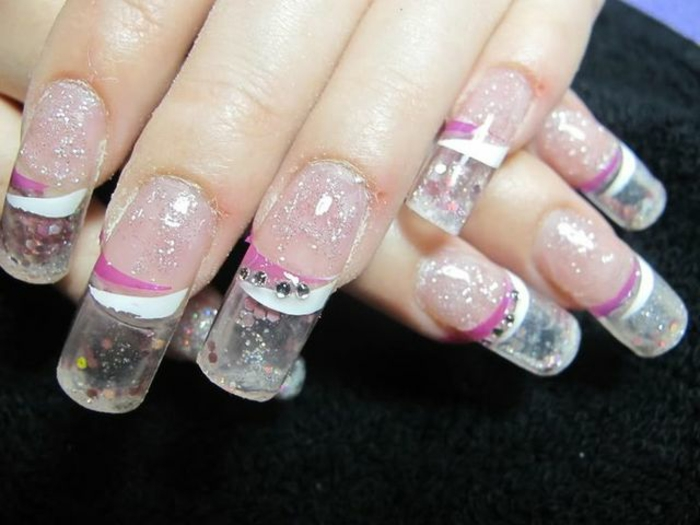 gelnägel aquarium nail art durchsichtig