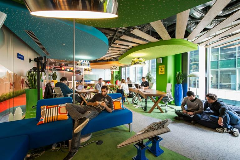 google campus dublin büroeinrichtung stress am arbeitsplatz vergessen