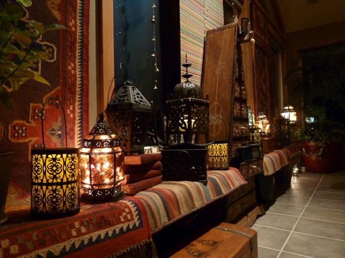 hauseinrichtung marokkanische metallene laternen kerzen