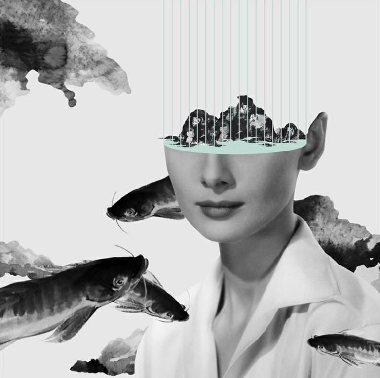 ikone audrey hepburn abstraktes plakat design kayan kwok