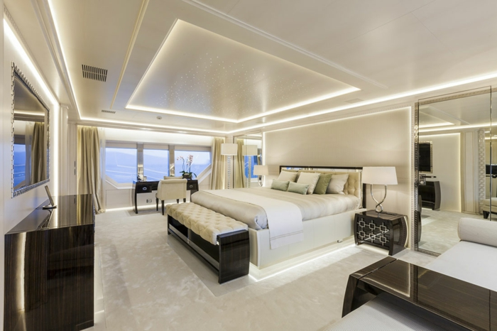 Indirekte Beleuchtung Decke Moderne Inneneinrichtung Schlafzimmer Ideen